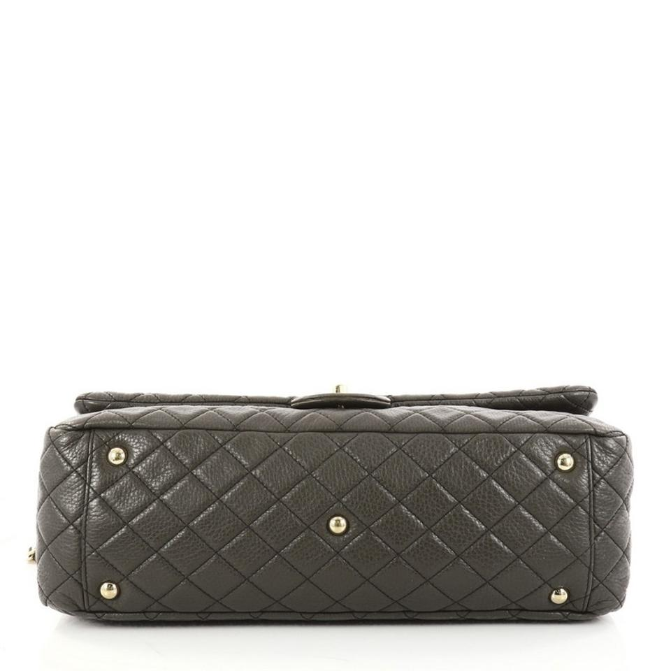 6e33d8fb8d5c Chanel Classic Flap Airlines Cc Quilted Calfskin Xxl Olive Green ...