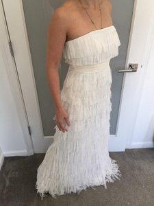 Ann taylor wedding dresses up to 90 off at tradesy ann taylor eggshell and cream silk tulle fringe strapless destination wedding dress size 0 xs junglespirit Gallery