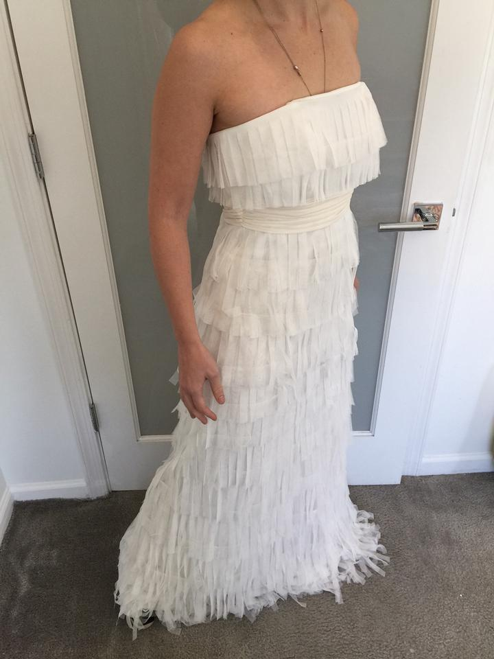 Ann taylor ivory silk and tulle fringe strapless destination wedding ann taylor ivory silk and tulle fringe strapless destination wedding dress size 2 xs junglespirit Image collections