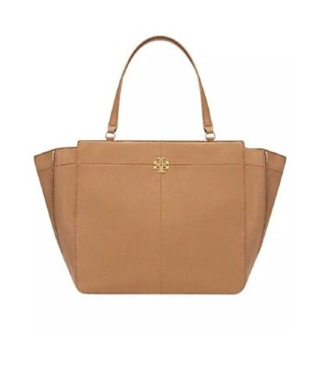 Tory Burch Ivy Sale Side Zip Sale Bark Brown Leather Tote