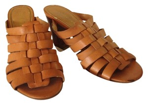 Enzo Angiolini Light Brown Mules
