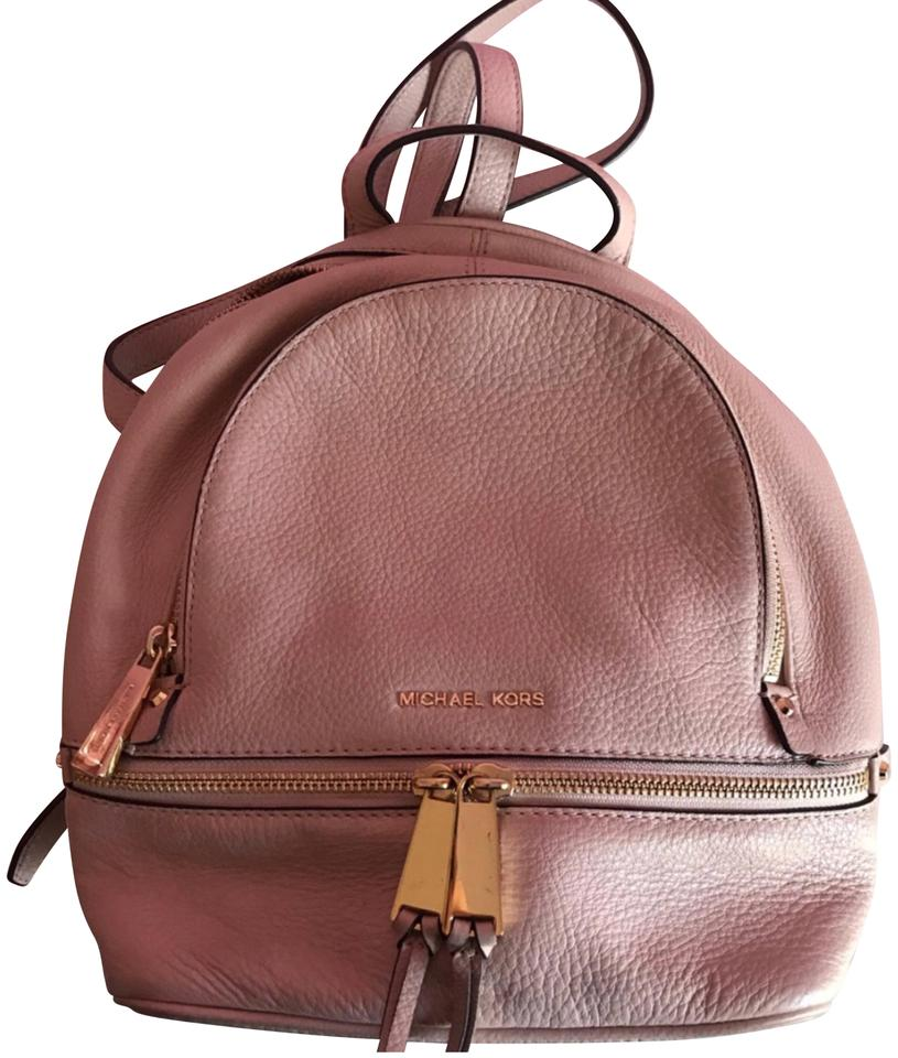 575ac594aaac MICHAEL Michael Kors Rhea Small Blush Pink Leather Backpack - Tradesy