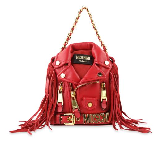 fd6397c5fedc3 Moschino Leather Gold Hardware Motorcycle Mini Fringe Backpack Image 0 ...
