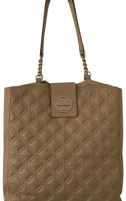 Item - Astor Court Marlene Coffee Cream Leather Tote