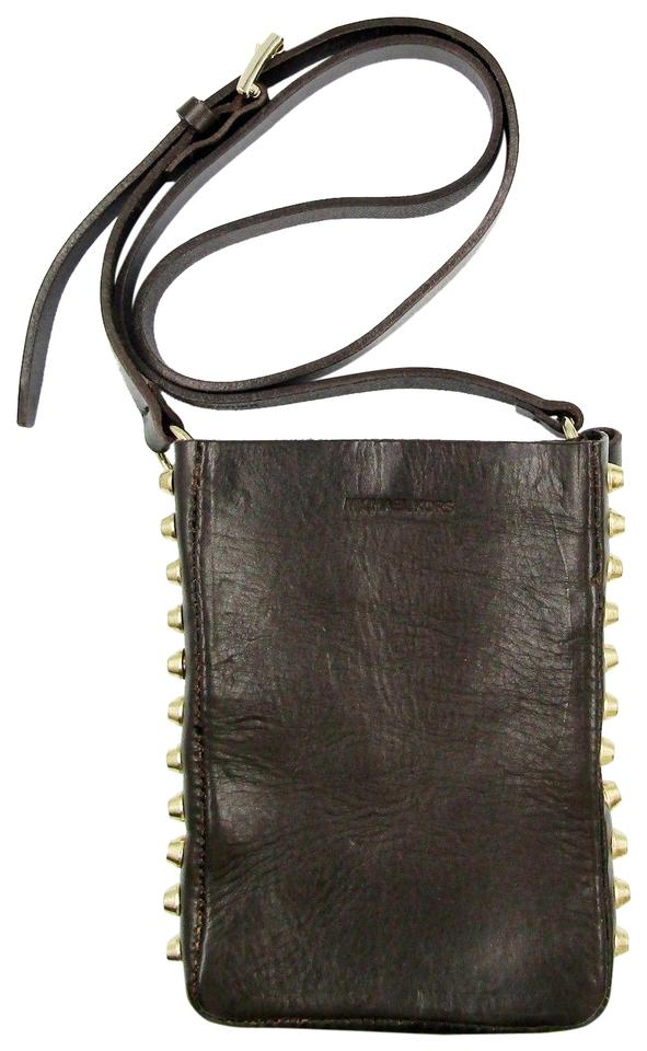 5e770c480f30 ... australia michael michael kors studded distressed leather mini cross  body bag 77303 9c8a3