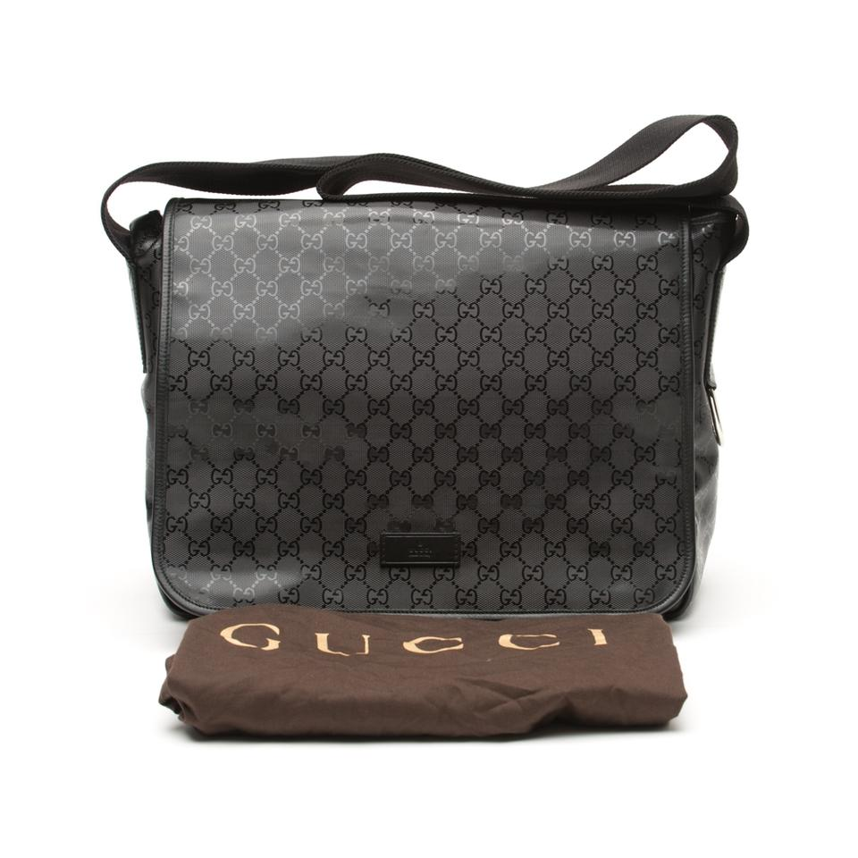 ce0beef3acfc Gucci Gg Supreme Laptop Black Messenger Bag Image 11. 123456789101112