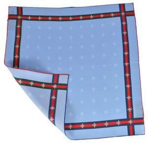 Gucci New Gucci Men's Silk Bee Pattern Red Green Web Square Pocket