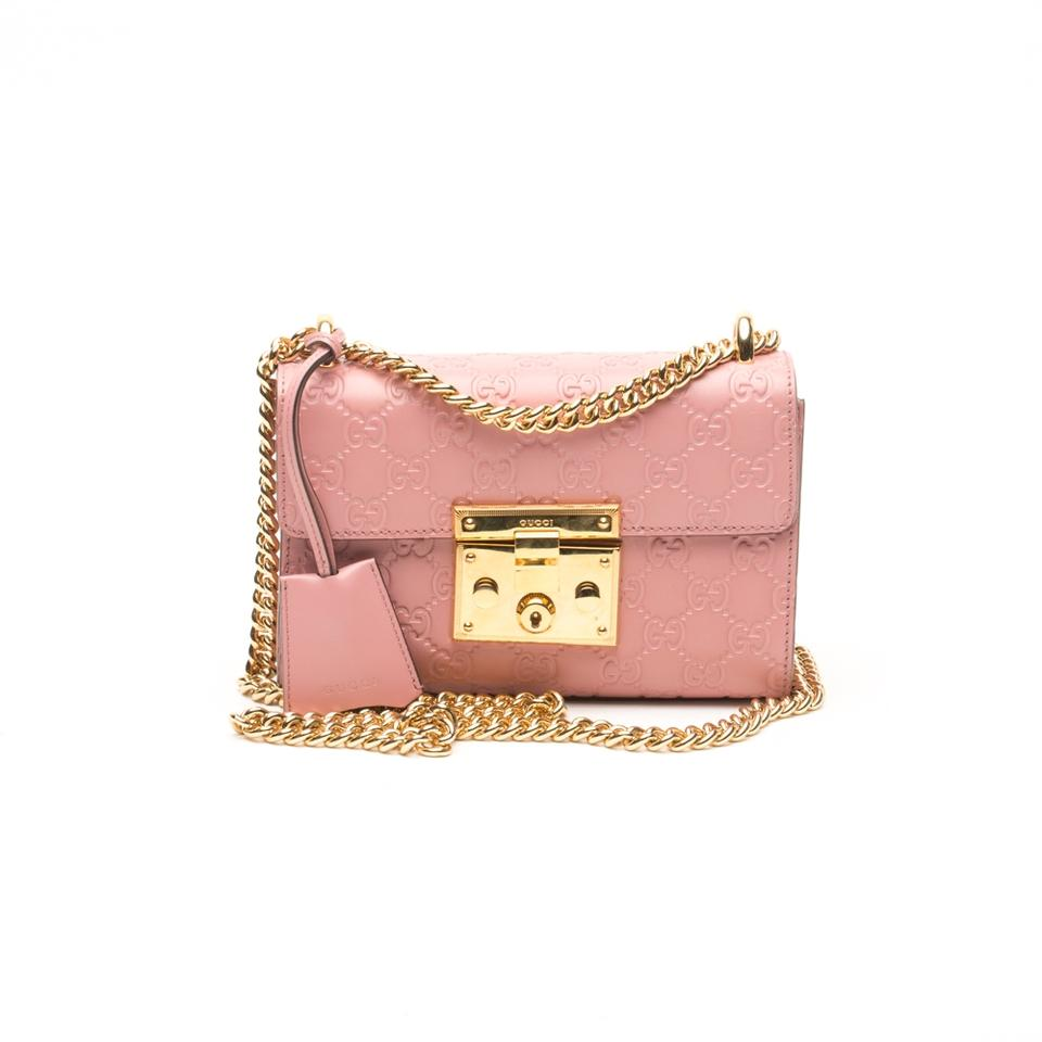 Gucci Padlock Small Signature Pink Leather Shoulder Bag - Tradesy a1f8ad9e04f28