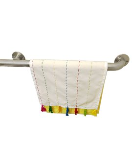 White Yellow New Yellow/White Decorative Towels Bathroom Or Kitchen Dacron Bath Accessory