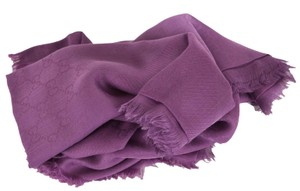 Gucci New Gucci Women's 307245 Purple Modal Cotton GG Guccissima Scarf Wrap