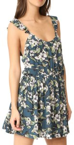 Free People short dress Floral Ruffle Print Scoop Back Sleeveless on Tradesy