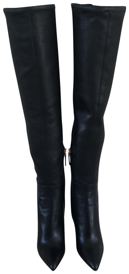 d4311eac0a7a Tom Ford Black W1963t-nss-blb Nappa Stretch Over The Knee with Gold Plated  Brass Hardware. Boots Booties