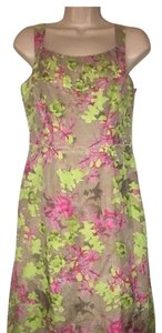 Banana Republic short dress pink green Floral Flirty Colorful Lined on Tradesy