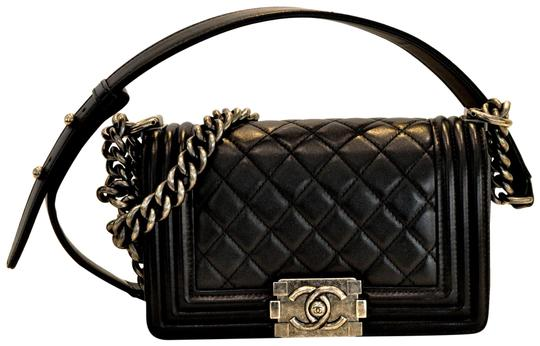Chanel Boy Calfskin Quilted Small Flap