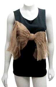 Koi Cashmere Silk Bow Hand Made Top black/beige