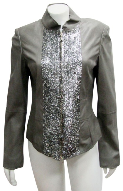 Item - Slate New Knits Small Sequins Embellished Jacket Size 4 (S)
