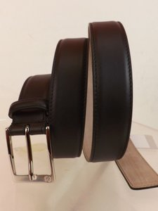 Gucci Cocoa Leather Interlocking Gg Logo Square Buckle Belt 105/42 #345658 Men's Jewelry/Accessory