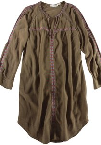 Étoile Isabel Marant short dress Mocha Embroidered Boho on Tradesy