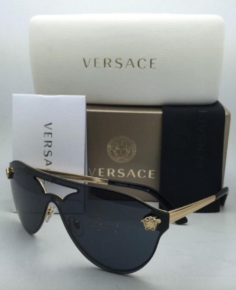 f3964438a0887 Versace Ve 2161 1000 8g Silver   Black Frame W Grey Gradient Lens New  1002 6g Gold W Grey+mirror Sunglasses - Tradesy