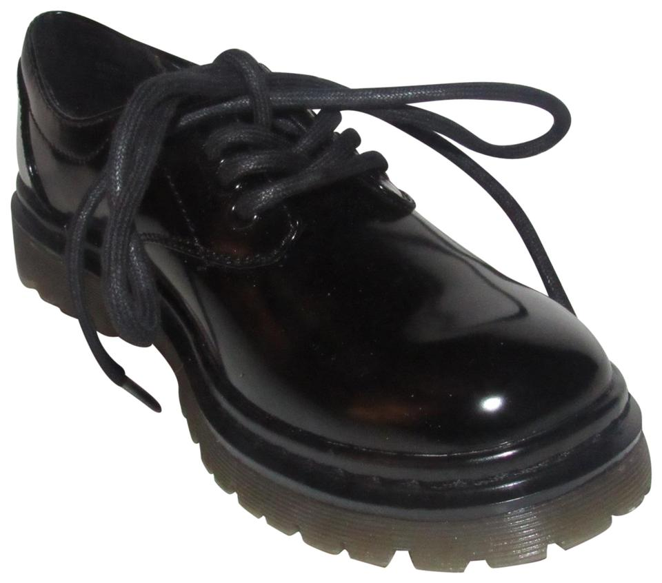efa5c2b026 REPORT Black Patent Leather Oxfords Shoes/Designer Flats Size US 6 Regular  (M, B) 27% off retail