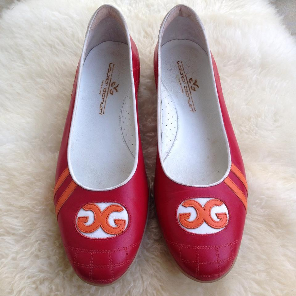 505d85090ac Walter Genuin Red Coco Logo Ballerina Loafers Flats Size EU 40.5 (Approx.  US 10.5) Regular (M