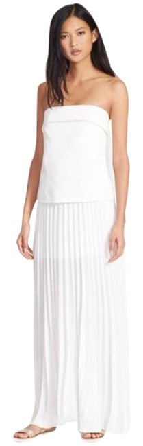 Item - White Pleated Long Casual Maxi Dress Size 2 (XS)