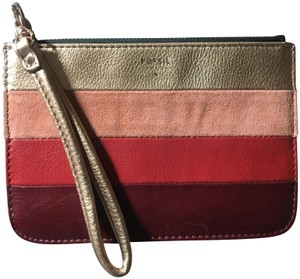 Fossil Leather Wristlet in Multicolored