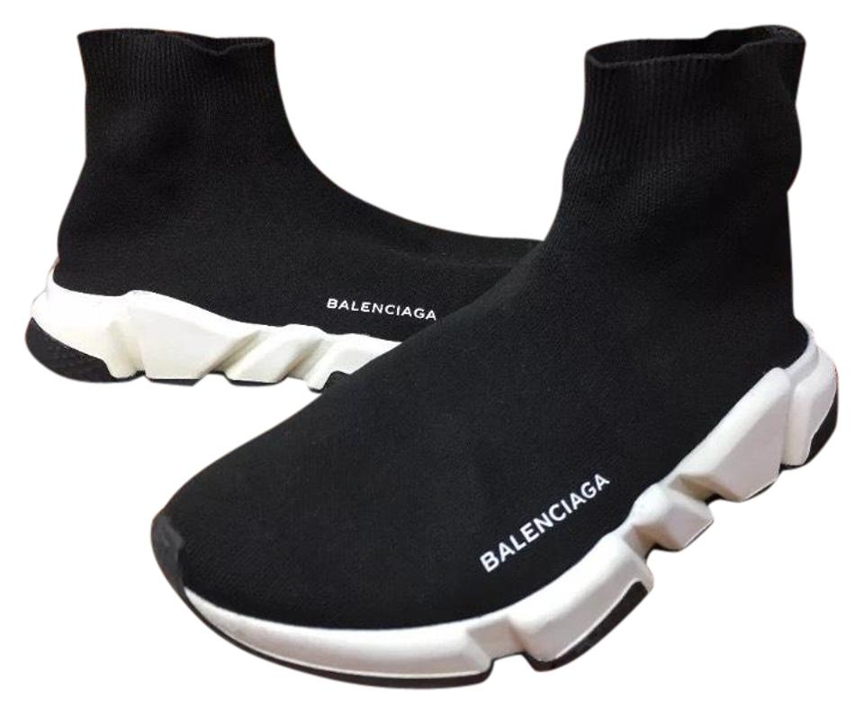 c5d475fc2345 Balenciaga Sold Out Eur40 Black Whit Men s Runner Trainer Mid Sneakers Sock  Noir Sneakers
