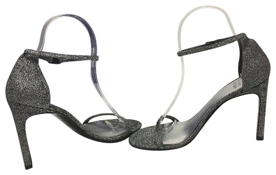 Stuart Weitzman Pewter Noir Nudist Sandals Song Women's High M Sandals Nudist 4ee0c7
