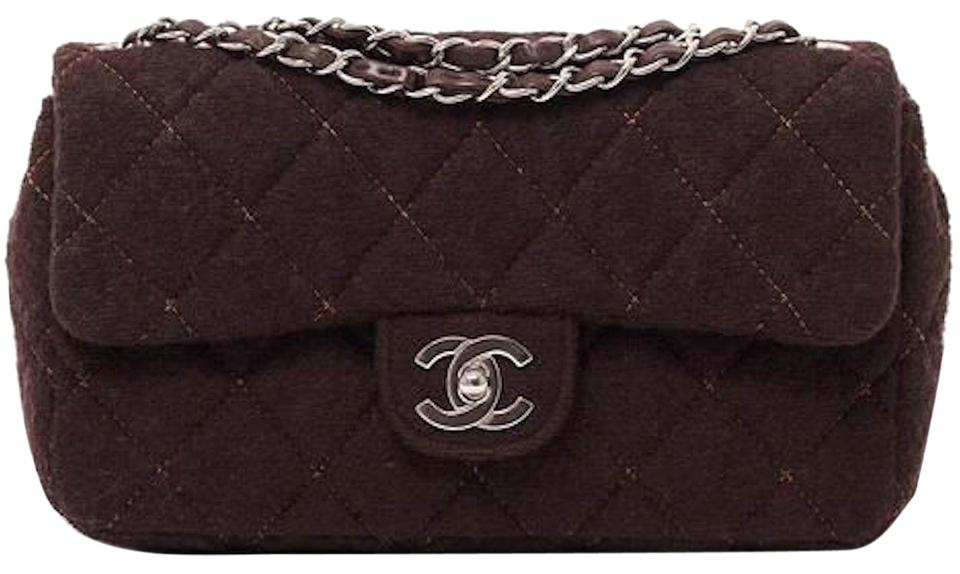 2e8129929e88 Chanel 2.55 Reissue Classic Single Flap Quilted Fabric Ghw Medium Cross  Body Brown Wool Leather Shoulder Bag