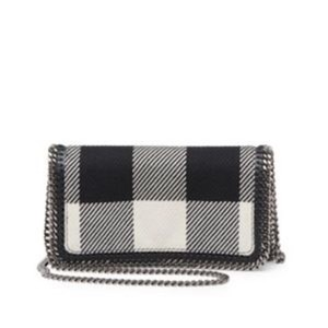 Stella McCartney Falabella Check Plaid Wool Cross Body Bag