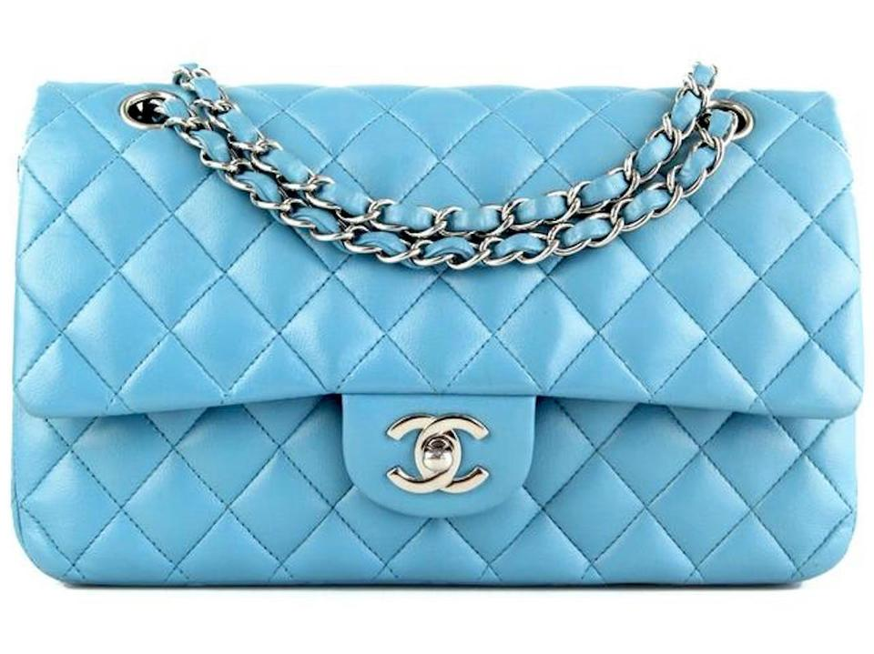 4cdcb7668ec Chanel 2.55 Reissue Classic Double Flap Quilted Shw Medium A01112 Cross  Body Tiffany Blue Lambskin Leather Shoulder Bag