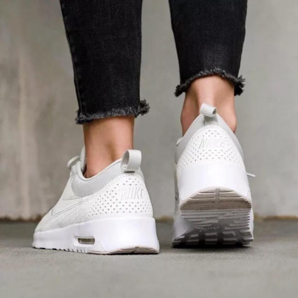 reputable site 7ca1a d71e9 Nike Women s Air Max Thea Light Bone Sneakers Is Equipped with Comfortable  Cushioning and Is Designed with A Sleek For Sneakers Size US 7.5 Narrow  (Aa, ...