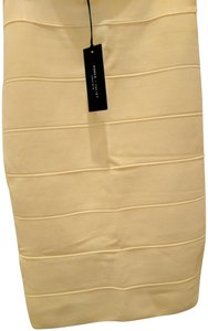 Romeo & Juliet Couture Bodycon Fitted Spring Skirt Pastel Yellow