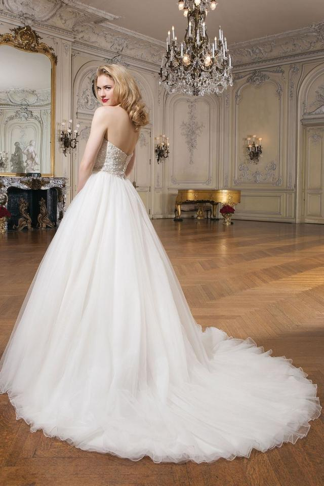 Justin Alexander White Tulle Style 8724 Ball Gown Formal Wedding ...