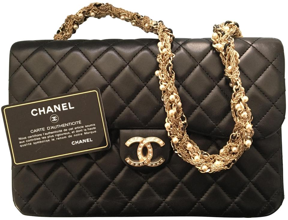 Chanel Classic Flap Limited Edition Westminster Pearl Black Lambskin ... 78de5442ee705