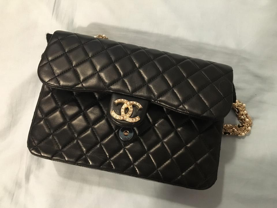 d724e9e8978944 Chanel Classic Flap Limited Edition Westminster Pearl Black Lambskin ...