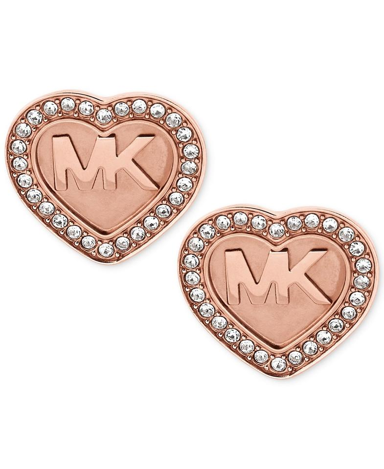 8ad0bd3a3 Michael Kors Michael Kors Logo Heart Pavé Stud Earrings Image 0 ...