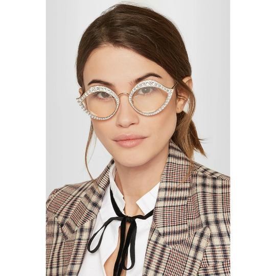 Gucci Cat Eye Metal Glasses With Crystals Image 1