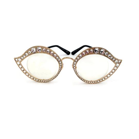 Gucci Cat Eye Metal Glasses With Crystals Image 4