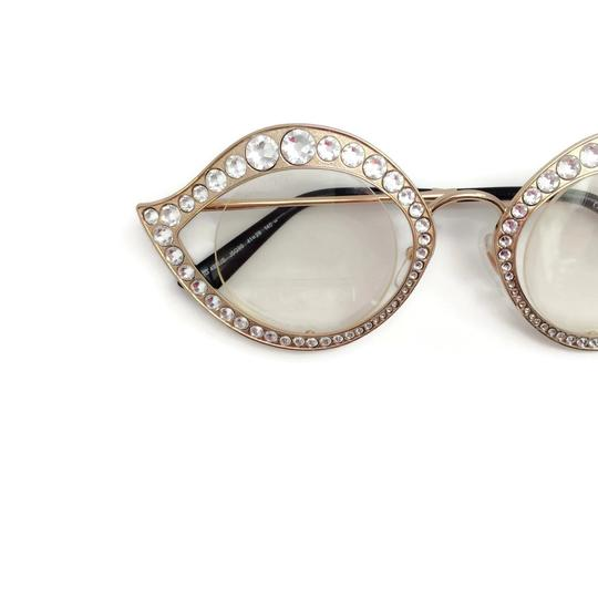 Gucci Cat Eye Metal Glasses With Crystals Image 5