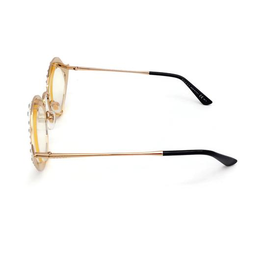 Gucci Cat Eye Metal Glasses With Crystals Image 9