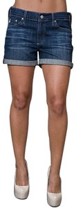 AG Adriano Goldschmied Relaxed Fit Roll-up Stretchy Denim Shorts