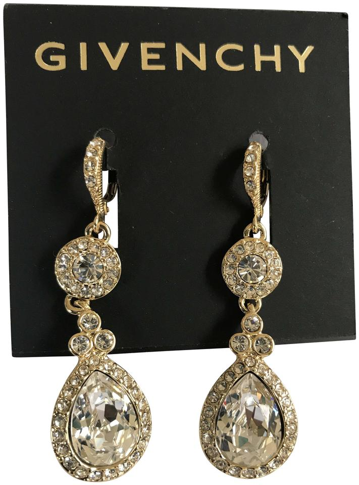 80cefe062 Givenchy Gold Swarovski Pavé & Colored Crystals Drop Earrings - Tradesy