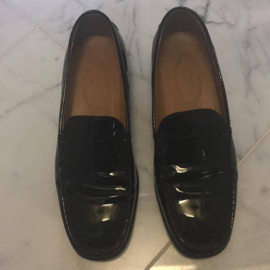53db875b765 Tod s Black Patent Leather Classic Penny Loafers Flats Size EU 38 ...