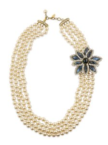 Chanel Chanel Four Strand Pearl Necklace