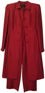 Ann Taylor Ann Taylor Red Silk Long Dress coat and pant