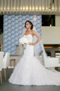 Martina Liana Champagne/ Stone & Ivory Beading/ Tulle Ml579 Formal Wedding Dress Size 0 (XS)