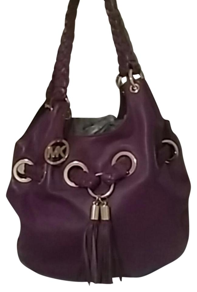 035cf1f504a3 Michael Kors Purple Leather Shoulder Bag - Tradesy