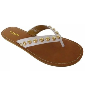 Coach Ivory Sandals